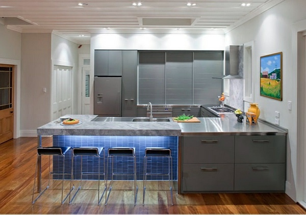 15 modern gray kitchen cabinets in silver shades ...