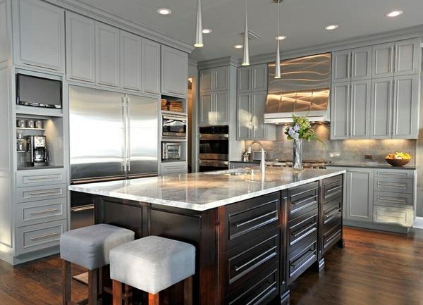15 Modern Gray Kitchen Cabinets In Silver Shades Interior Design Ideas Avso Org