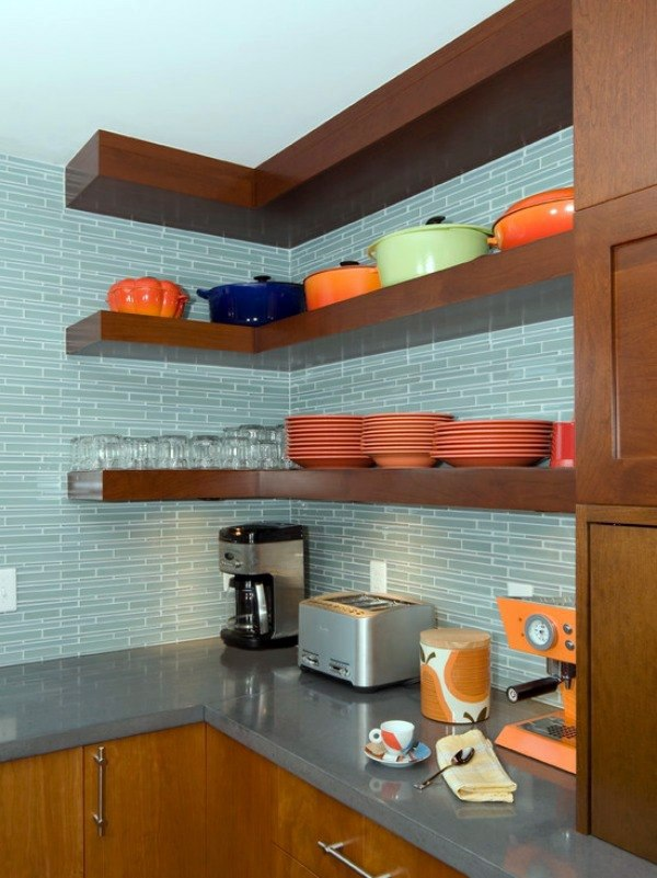 Regale - Corner shelf for space saving - Ideas for practical organization