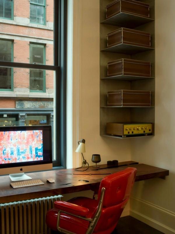 Corner shelf for space saving - Ideas for practical organization