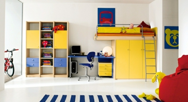 Farben - Make young children -A room full of color and love for a little boy
