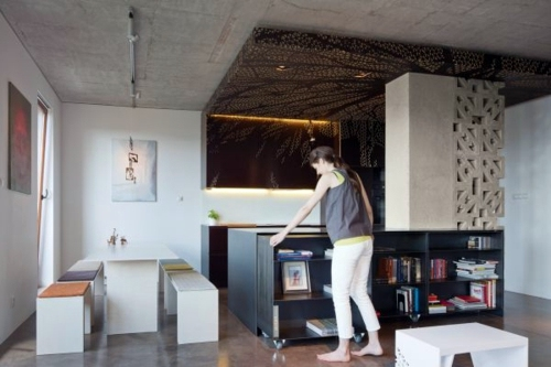Space saving, folding furniture for the small apartment
