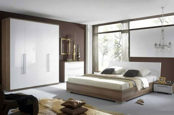Select bedroom wall color and make a modern feel ...