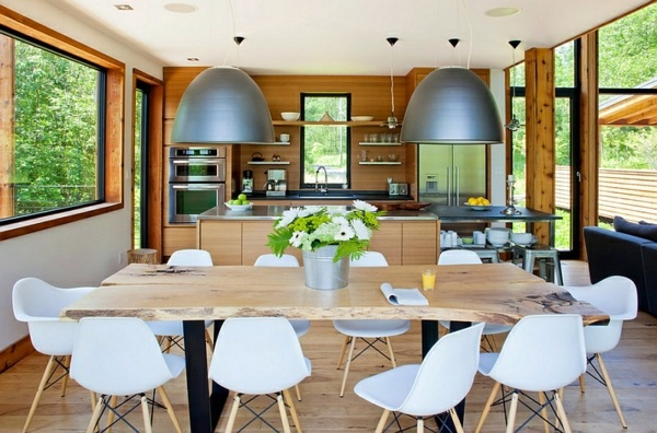 Large Pendant Lights In The Dining Room
