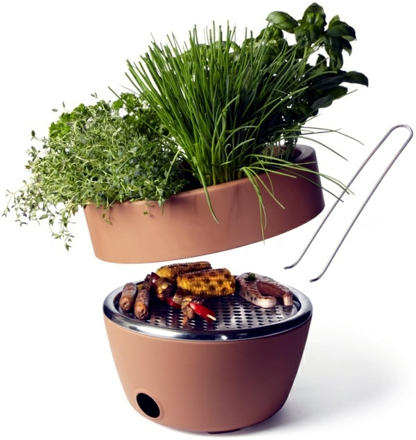 Gadgets - The best barbecue for your balcony - your barbecue and herb pot in one (plus video)