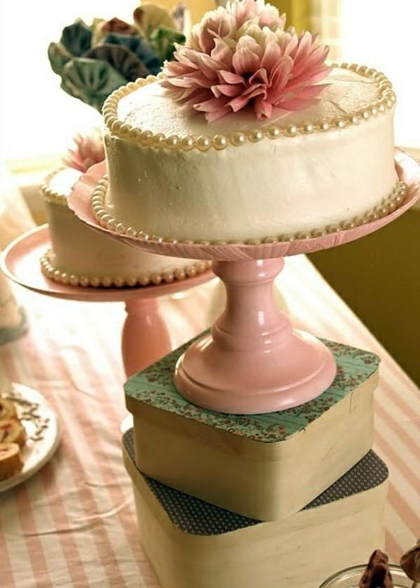 Bastelideen - Tortenetagere - amazing DIY cake stand