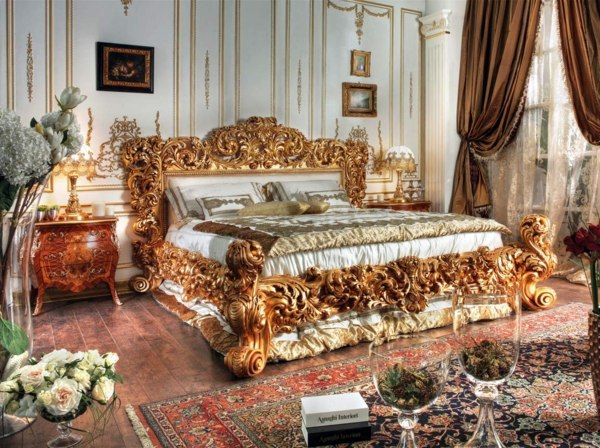 Baroque bedroom furniture - such as the nobles sleep