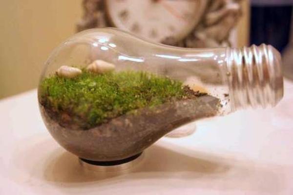 Art - DIY decoration from bulbs - 120 craft ideas for old light bulbs