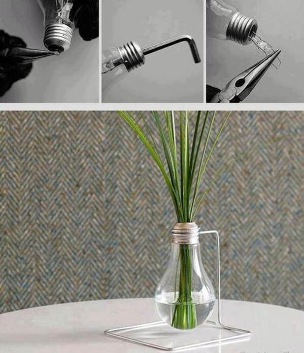 DIY - Do it yourself - DIY decoration from bulbs - 120 craft ideas for old light bulbs