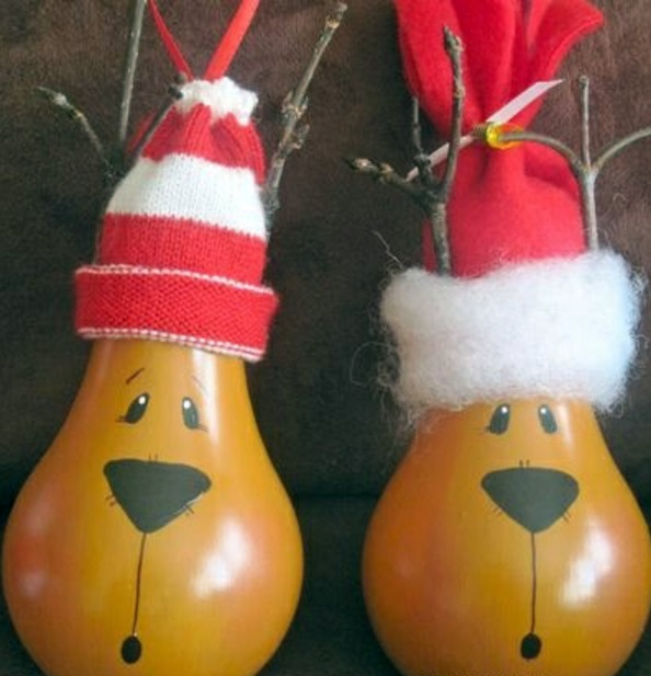 DIY decoration from bulbs - 120 craft ideas for old light bulbs