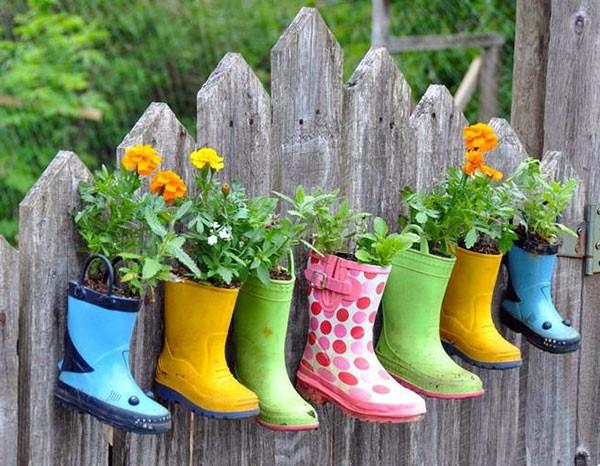 DIY Deko - On Funny Gartendeko yourself - DIY Planters