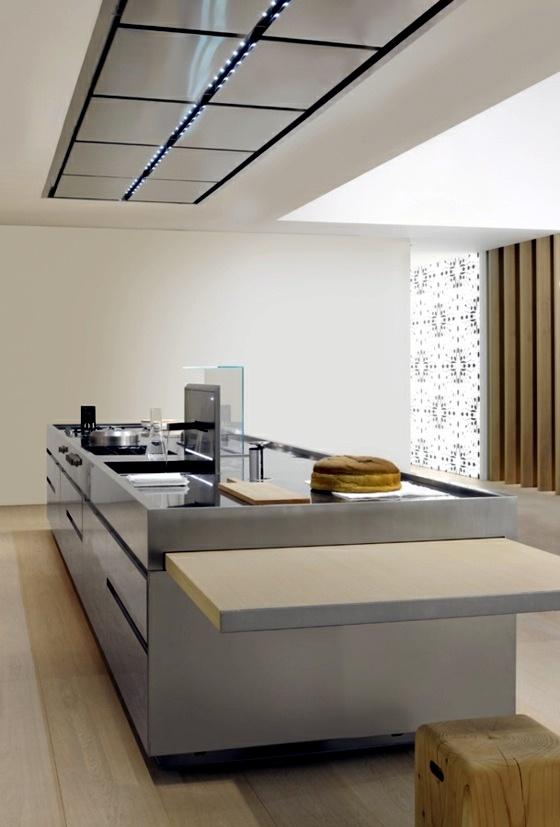 Küche - Designer kitchen island - discreet and practical