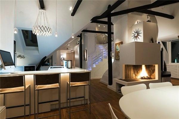 Swedish Loft Apartment Elegant Interior Design Combined With Breathtaking Views Of The City Interior Design Ideas Avso Org