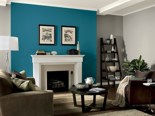 Painting walls - ideas for the living room