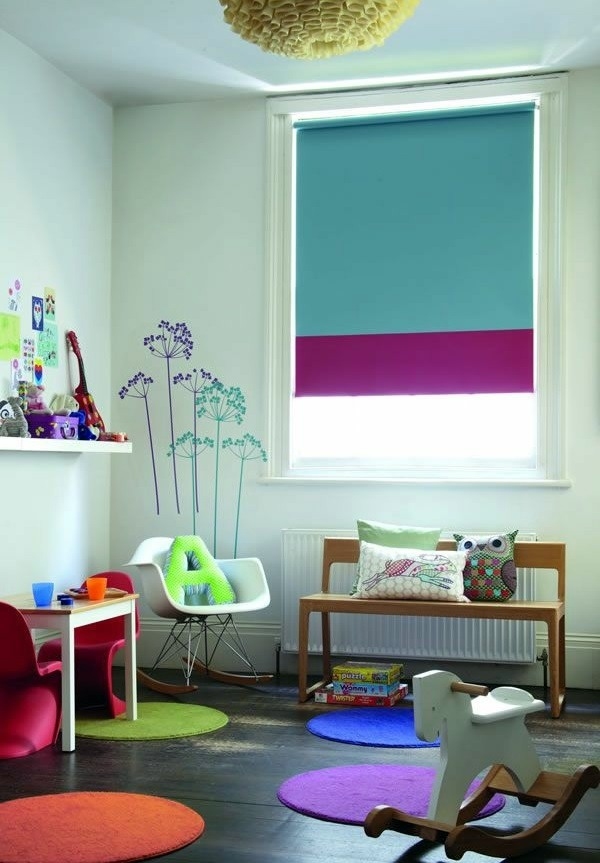Einrichtungsideen - Blackout blind children - colorful patterns and ideas
