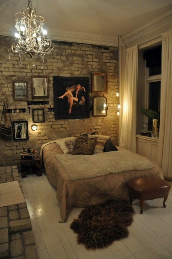 How you could decorate a brick wall behind your bed 31 ...