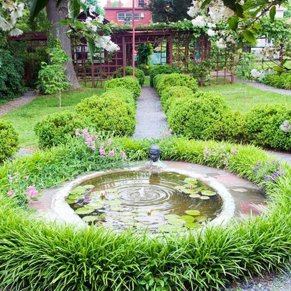 Patio Tour Classic Courtyard With Pond And Fountain