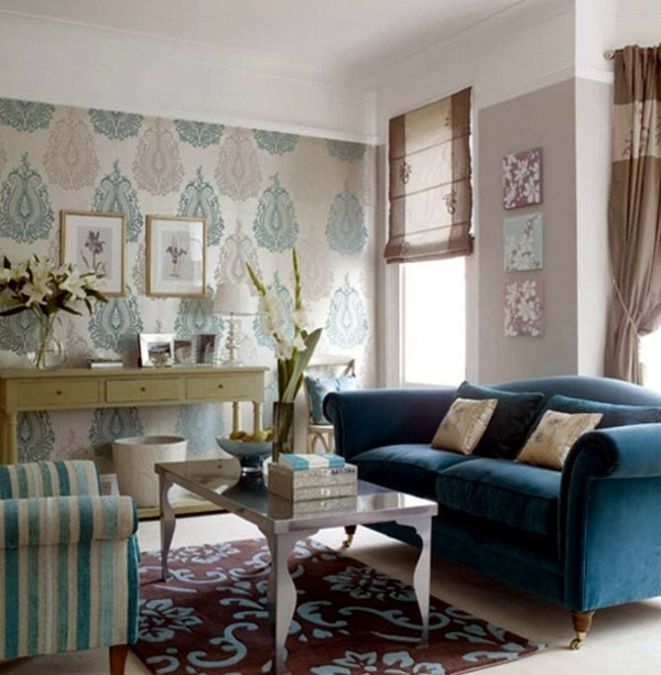 Farben - Choose the appropriate color for the living room wallpaper