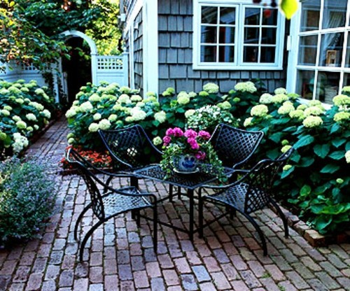 Create a shaded seating area in the garden