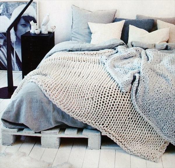 DIY Möbel - Build bed frames themselves - DIY bed frame from Euro pallets