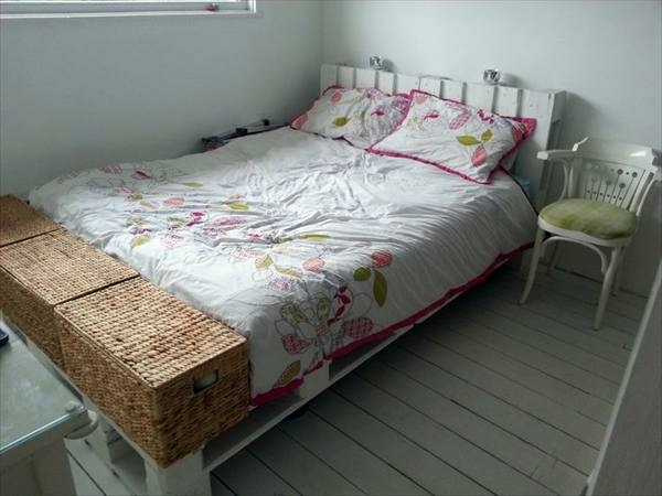 Build bed frames themselves - DIY bed frame from Euro pallets
