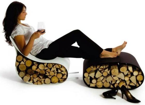 Art - Creative firewood rack by Ak47 Design