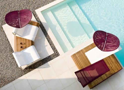 Außenmöbel - Modern umbrella for your roof terrace