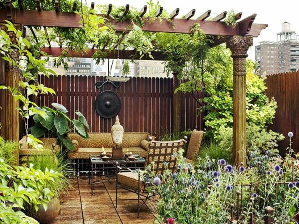 Covered terrace - 50 ideas for patio roof of modern houses ... on Terrace Patio Ideas id=15220
