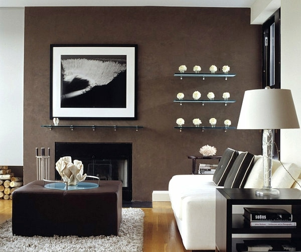 A Glass Shelves Are Stylish And Modern, Floating Glass Shelves Living Room