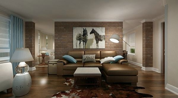 Wall with bricks for a rustic look point