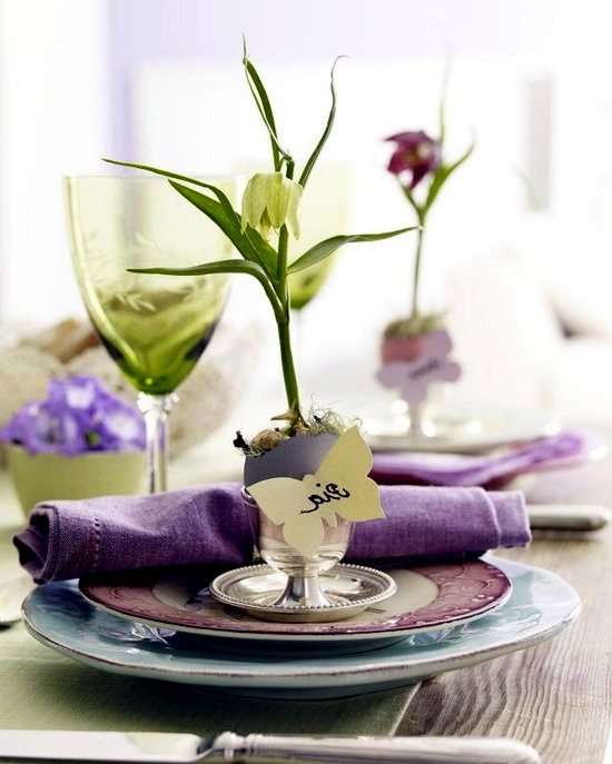 Beautiful spring table decoration ideas with flowers