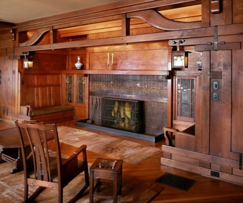 Einrichtungsideen - Wood stove and fireplace insert offers a cozy fireplace