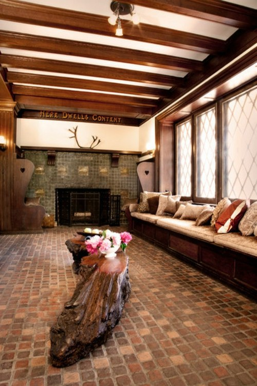 Wohnzimmer Ideen - Wood stove and fireplace insert offers a cozy fireplace