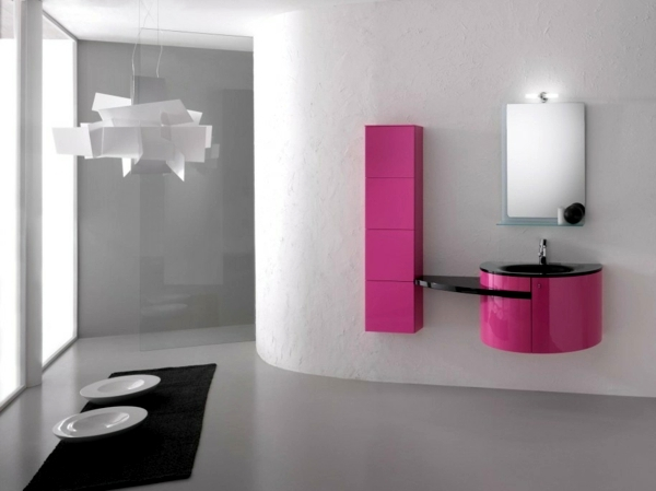 Badeinrichtung - Bathroom wall color - fresh ideas for small spaces