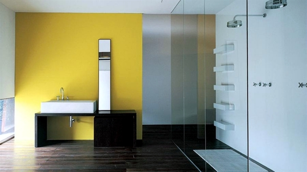 Farben - Bathroom wall color - fresh ideas for small spaces