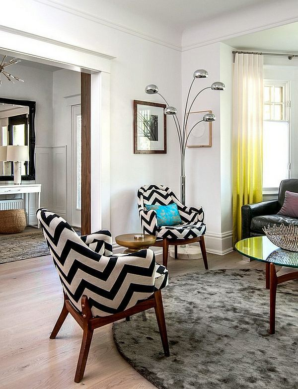 Smart application of Chevron patterns in the living room ...