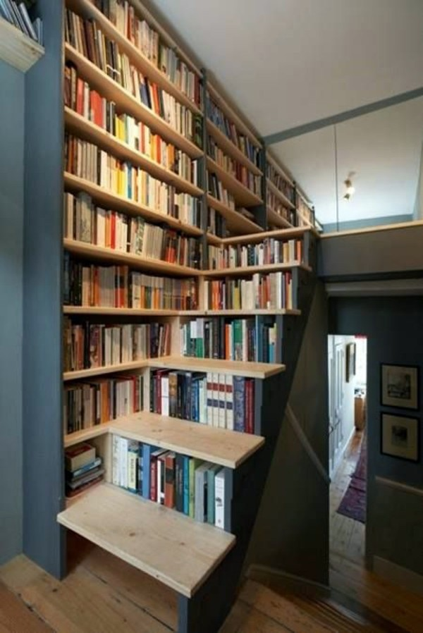 Einrichtungsideen - Stylish bookcase systems make your home comfortable