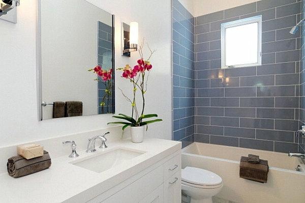 Wohnideen - Interior design ideas - green houseplants in the bathroom