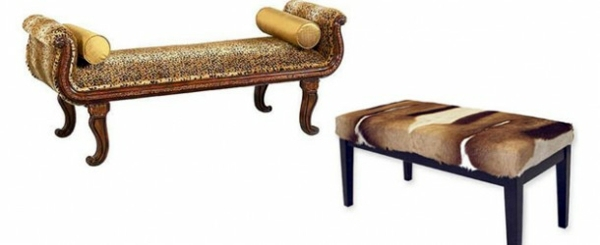 Mobiliar - A bedroom bench with animal pattern is one of the coolest bedroom furniture at all