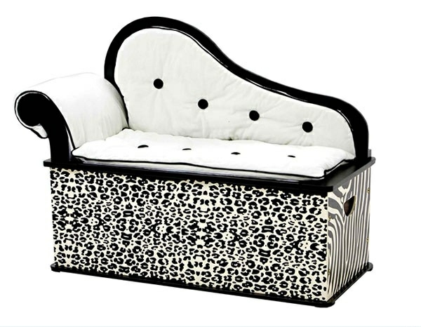 A bedroom bench with animal pattern is one of the coolest bedroom furniture at all