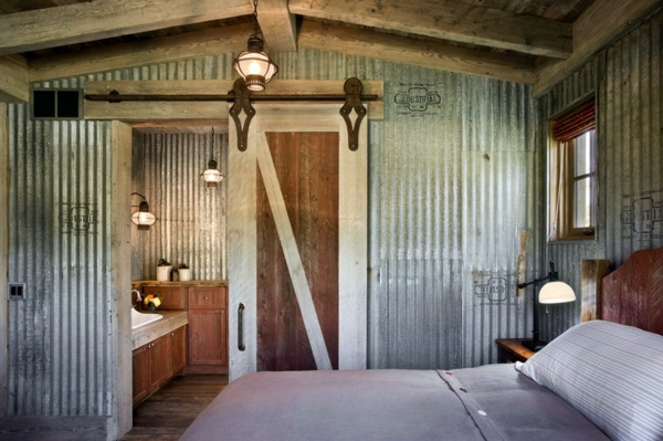 5 points at home, where corrugated iron looks wonderful | Interior Design  Ideas | AVSO.ORG