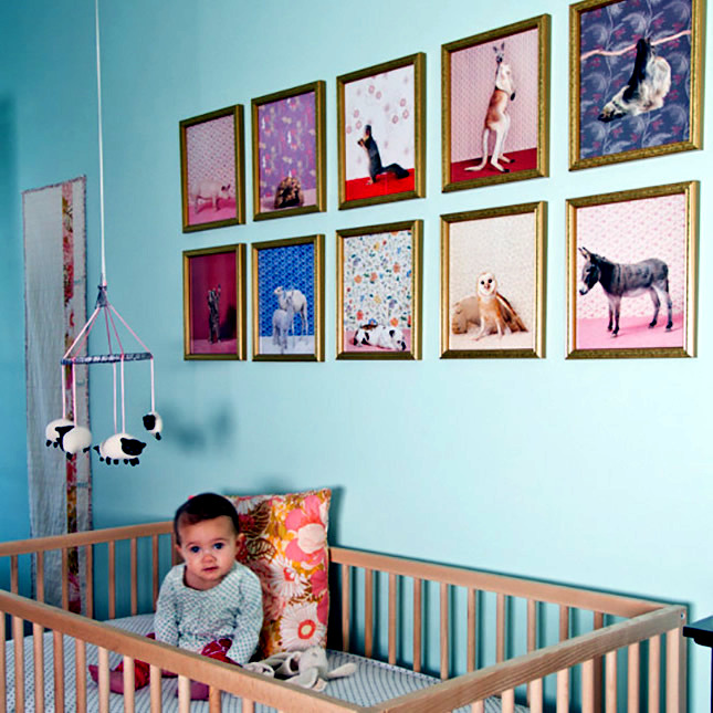 Elegant Kids Room Decoration with pastel colors and animal motifs