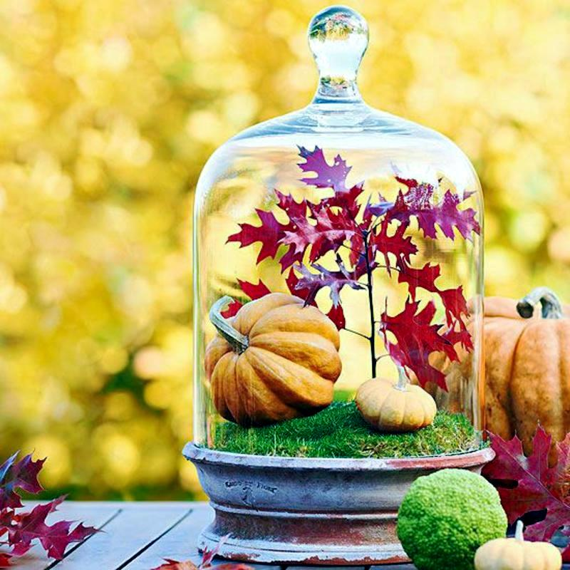 Dekoration - Autumn decoration ideas - colorful table decoration and other craft ideas from natural materials