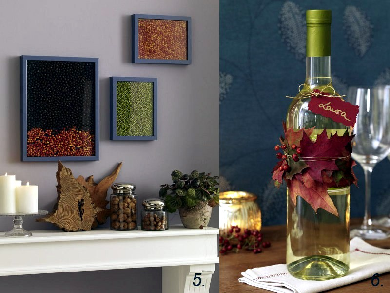 DIY Deko - Autumn decoration ideas - colorful table decoration and other craft ideas from natural materials