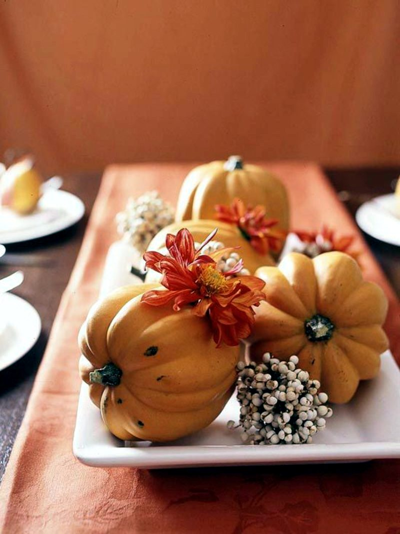 Autumn decoration ideas - colorful table decoration and other craft ideas from natural materials