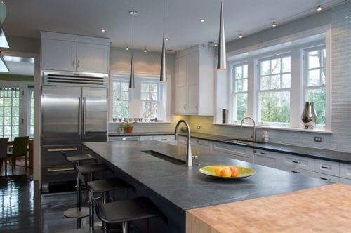 Küche - Kitchen worktop and kitchen back wall: Meet The absolutely perfect choice