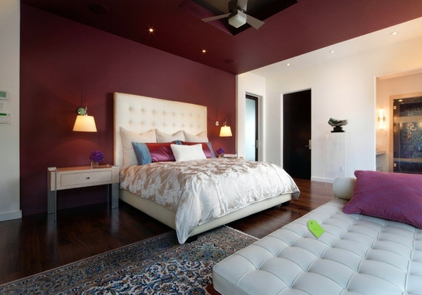 Fashion bedroom wall - color combination and color design