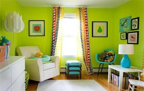 Farben - Nursery emphasize - 20 colorful decorating ideas