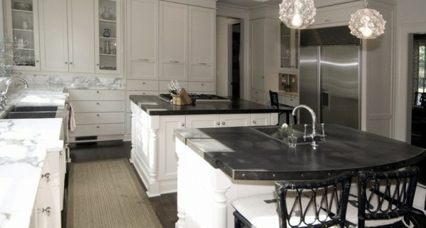 Küche - Kitchen countertops and the five best matching materials next to the granite