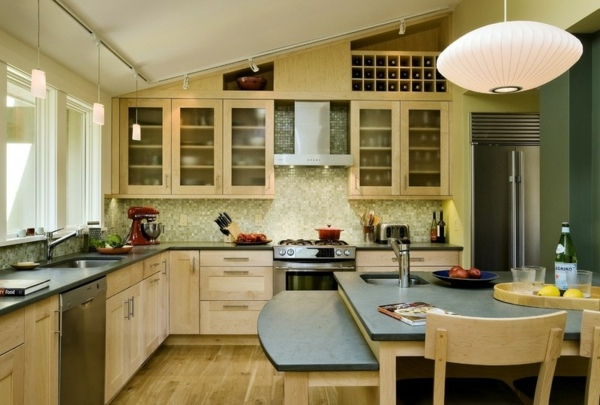 Kitchen countertops and the five best matching materials next to the granite